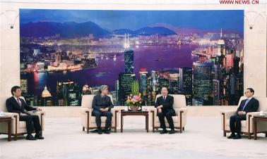Senior CPC official meets with HK media delegation