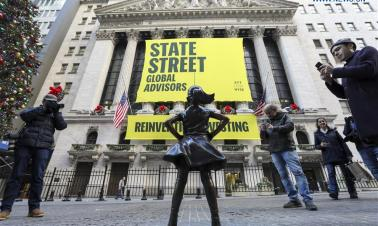Wall Street's 'Fearless Girl' relocated in front of NYSE