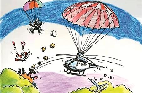 """降落伞——直升机的新""""护身符"""""""