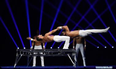Int'l Acrobatics Art Festival held in China's Henan