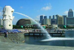 新加坡城市标志性雕塑鱼尾狮