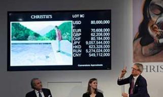 大卫·霍克尼名画拍出9031万美元 成拍卖纪录最高的在世艺术