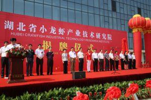 湖北省小龙虾产业技术研究院揭牌