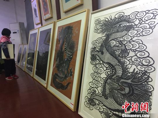 """湖南大学保安办""""龙图""""画展 发扬中国龙文化"""