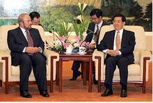 胡锦涛会见阿尔巴尼亚总理纳诺(2004年)