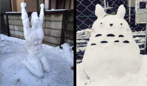 日本奇葩雪人秀闪瞎网友