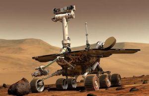 """美国2003年火星探测中的火星漫游车""""勇气号"""""""