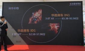 华晨专用车4款全新房车上市 52.58万元起售