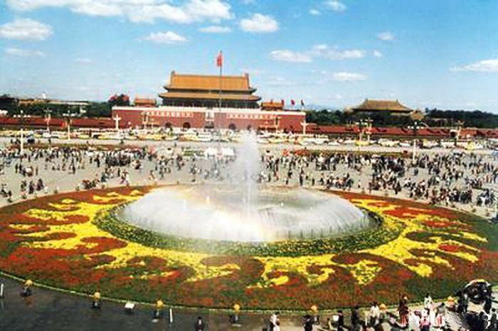 1995天安门广场国庆花坛