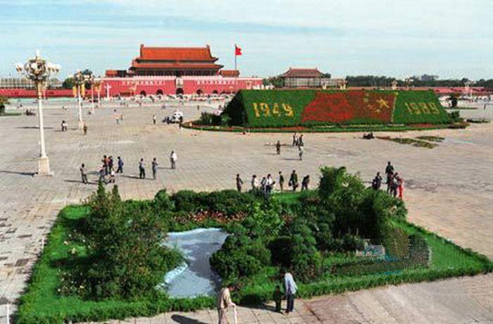 1989天安门广场国庆花坛