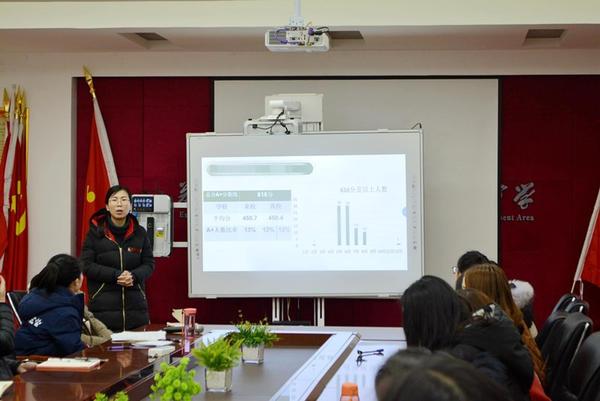 郑州经开区实验中学召开八年级上期期末质量分析会