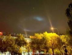 北京上空出现神秘光圈