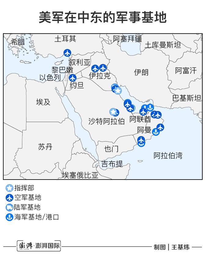 美驻伊拉克基地遭袭,还有多少美军基地在伊朗射程范围内?