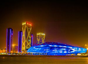 大连国际会议中心夜景