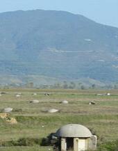 阿尔巴尼亚随处可见的碉堡