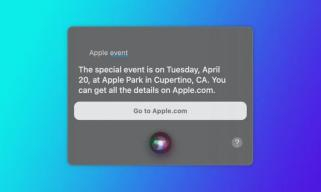 Siri透露苹果下一次发布会计划于4月20日举行