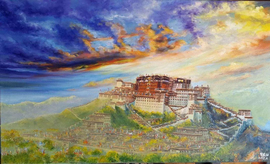 你幻想布达拉宫所有美好的样子 或许都在他的画里