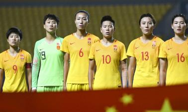 China's national women's football team win against Tajikistan 16-0 in the Asian Games